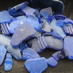 Shards of blue seaglass